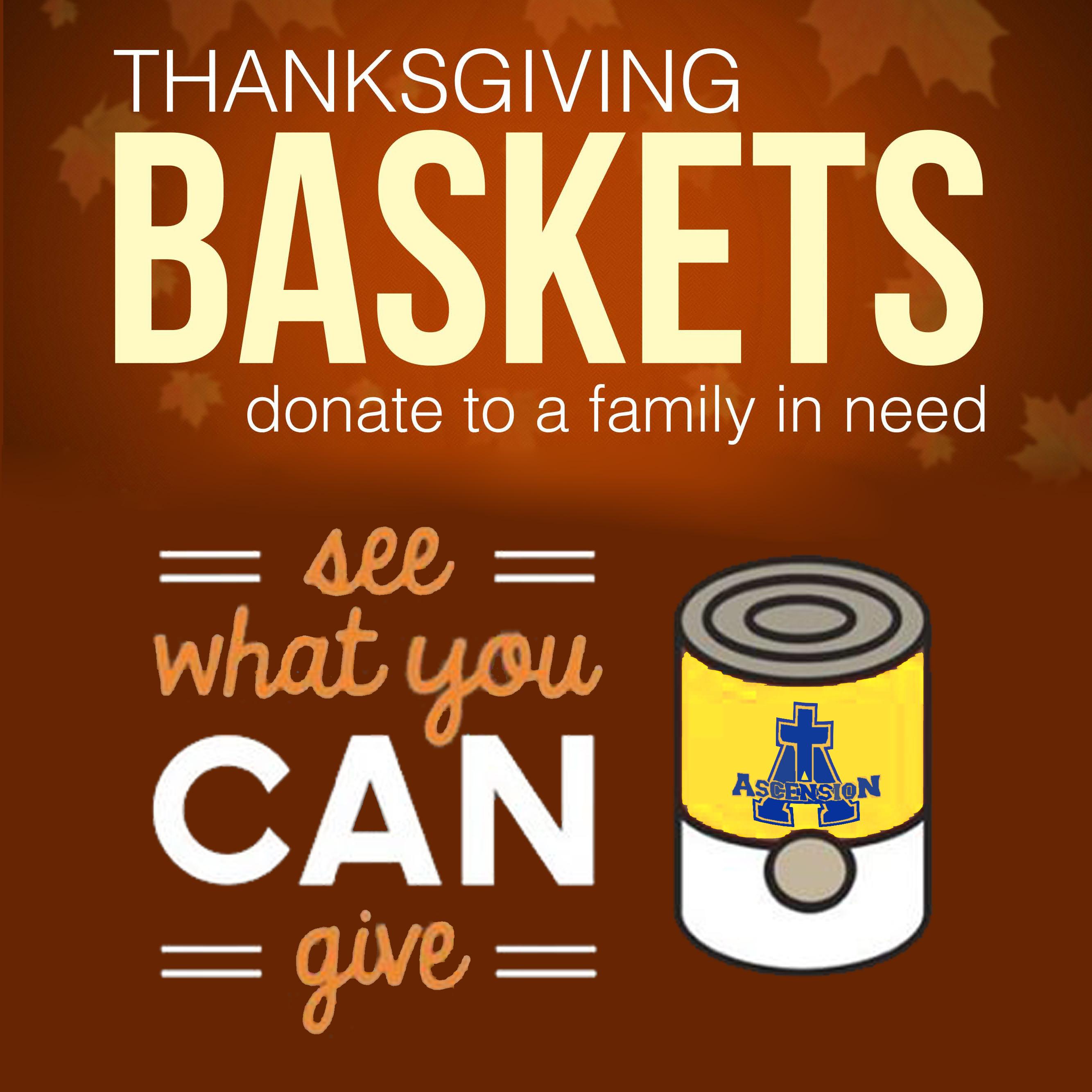 Thanksgiving Basket Collection-Turn In Deadline